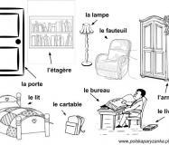 Opis pokoju po francusku. Słownik obrazkowy - meble po francusku.